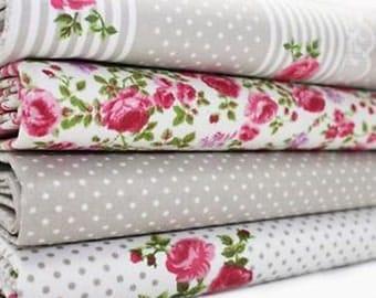 Fabric Bundle Petite Jardin Fat Eighth  20x10 tissu