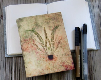fern botanical journal - inspire diary journal - gift for him or her - holiday hostess gift