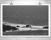 Fine Art Photography, Black and White, California Photography, San Francisco, California Coast, Seal Rocks, Sutro Baths, Ocean, Large Print