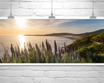 Stinson Beach, Panoramic Art, Marin County, California Coast, Art Photography, California Beach, Sunset Picture, Photo Art, Beach Sunset