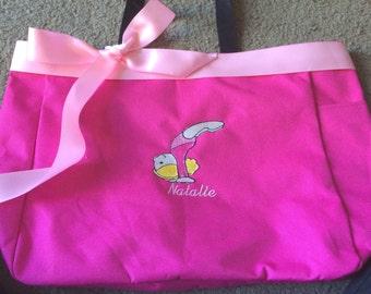 Personalized Girls Toddler Gymnastics Gymnast Dance Tote Bag