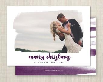 Christmas card, photo Christmas card, newlywed holiday card, modern Christmas card, printable Christmas holiday card - marry christmas