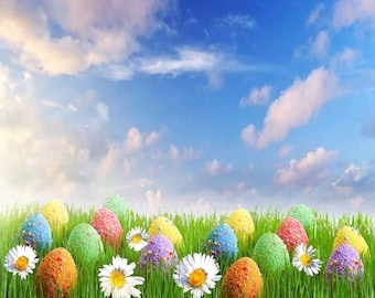 Lovely Easter Egg 10ft x 10ft Backdrop Computer Printed Photography Background LMG-282