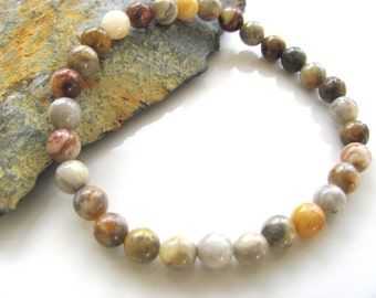 Stretch Gemstone Bracelet - Crazy Lace Agate - Yoga Jewelry, Meditation, Healing
