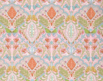 Butterfly Garden Butterfly Medallion Pinkx - PWDF224 Dena Designs Fishburn 100% Quilters Cotton Available in Yards, Half Yards. Fat Quarters