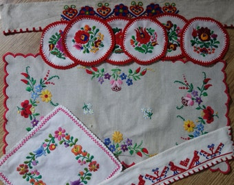 vintage beautiful collection of  heavily embroidered items