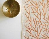 Needles - screen printed fabric - metallic colours