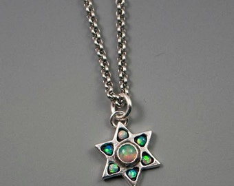 Opal Star Necklace