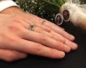 Bridal Bouquet Locket, Sterling Silver Locket, Brides Locket