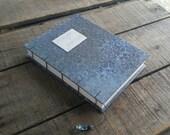 Blue Prayer Journal, Medium Coptic Stitch Blank Blue Gray Prayer Journal, Hand Stitched Christian Prayer Book, Faith Journal, Personal Diary