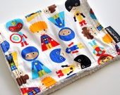 Chenille Burp Cloth - Super Heroes - OVER 160 Styles to Choose From in My Shop