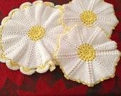 Vintage Crochet Trivets/ Pot Holers