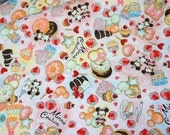 Disney Cartoon  Minnie Mouse Minnie Couture and  sweets Print Japanese fabric