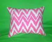 New Pillow made with Lilly Pulitzer Get Your Chev On Hotty Pink fabric, 2 sizes available