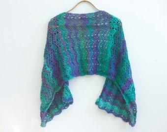 Hand Crochet Lace Shawl, Shawl Scarf, Spring Shawl, Lace Wrap, Custom, Choose Color, Multi Shawl