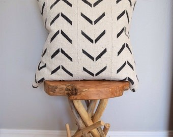 African Mud Cloth Down Feather Pillow