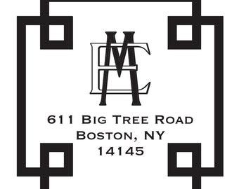 Return Address Stamp Style # 21