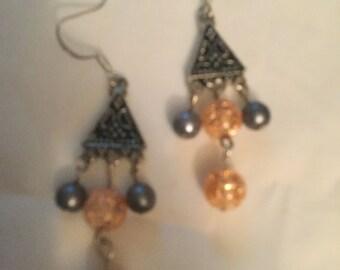 Glass beaded Dangle Earrings