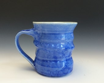 Light Blue Crystalline Glazed Mug