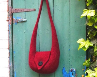 "Knitting Pattern Felt Shoulder Bag ""Bridget"""