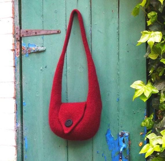 Knitting Pattern Felt Shoulder Bag Bridget