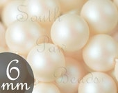 6mm Pearlescent White swarovski pearl beads Style 5810 6mm round beads 6mm beads (25)