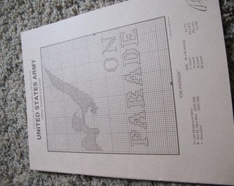 1986 US Army Military Counted Cross Stitch Book