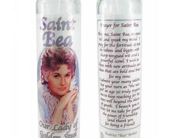 Saint Bea prayer candle