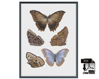 Butterflies and Moths  - cross stitch pattern - instant PDF download