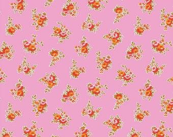 SALE - Milk, Sugar & Flower Pink Floral Yardage SKU# C4342-Pink  1 YARD