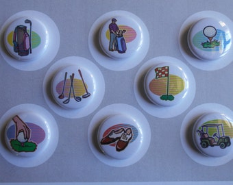 Golfing Flair Buttons-YOU CHOOSE STYLE