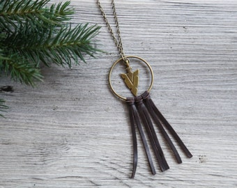 Arrow Dream Catcher Necklace