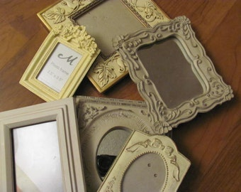 Ornate Picture Frames, Wall Gallery, Hollywood Glamour,Lot 6 , Paris Apt Repurpose Frames #20