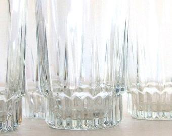 1 Vintage Arcoroc LANCER Flat Iced Tea Glass