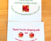 """18 Glossy White Oval Labels, 1 1/2"""" x 2 1/2"""", Address, Thank You, Merchandising, Product Packaging"""