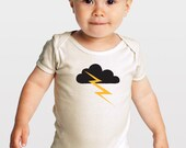 Thunder and Lightning -- Organic Cotton Baby One-Piece