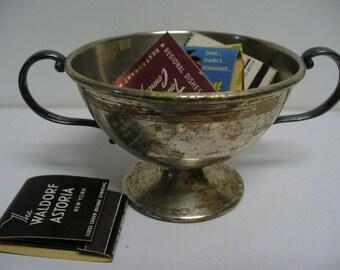 2 Handled Silver Sugar Bowl