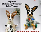 Australian Cattle Dog Made to Order Christmas Ornament Figurine Porcelain