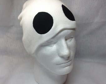 Pokemon Team Skull Symbol Skullcap Hat Grunt Character Cosplay Sun Moon Game White with Black Eyes Gaming Fan