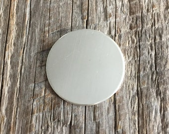 2 One Inch 20 Gauge Sterling Silver Round Circle Discs Jewelry Stamping Supplies
