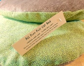 Washable Wool Pet Bed,  Cat Mat, Small Dog Bed, Earthy Green and Brown, Machine Washable, Eco Friendly, All Purr Puss Cat Bed