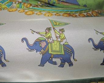 Whimsical Purple Elephant Print Silk blouse by MONDI