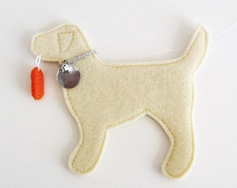 Yellow Lab Retriever Fever Ornament - FREE Personalization