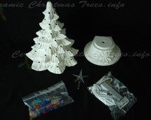 Ready To Paint Ceramic Christmas Tree Kit 16 Inches