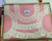 Vintage Pink Doily and Scarf 5 Piece Bedroom Set New in Box