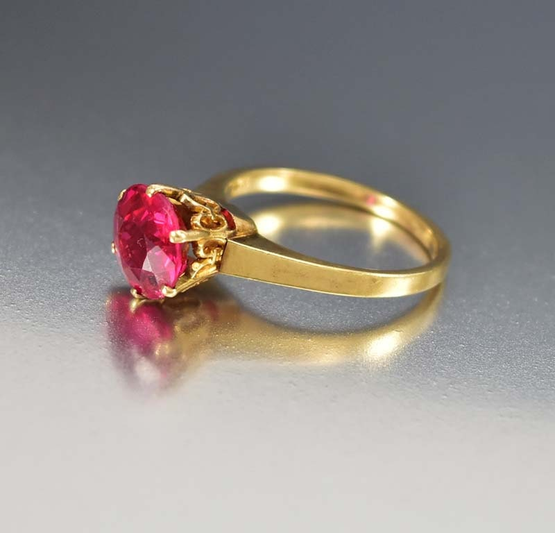 Antique Ruby Engagement Ring Ruby Ring Edwardian Engagement