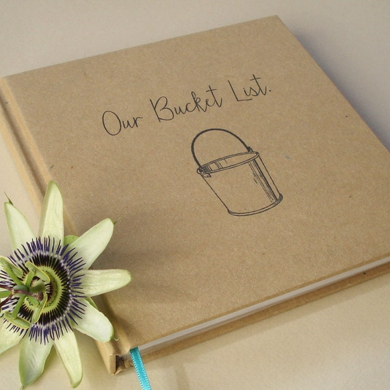 Anniversary Gift Lists By Year: Our Bucket List First Anniversary Gift Journal Our Wedding