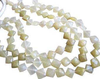 Yellow Opal Beads, Faceted Diamond Cut, Yellow Gemstone Beads, SKU 2933A