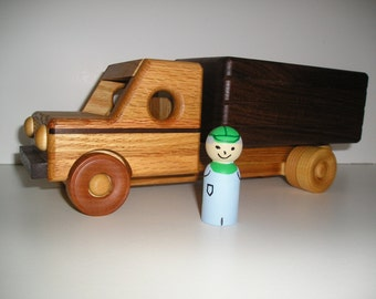 Wooden Grain Truck with Hand Painted Driver
