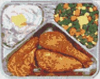 PATTERN: Retro TV Dinner Cross Stitch Chart